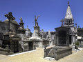Recoleta cemetery in buenos aires argentina rows of tombs cementerio de la Stock Images