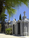 Recoleta cemetery in buenos aires argentina rows of tombs cementerio de la Stock Photography