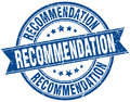 Recommendation stamp Royalty Free Stock Photo