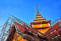 Reconstruct ancient chancel in ayutthaya architect thailand Stock Photos