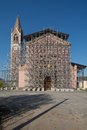 Reconstruction of a church after the earthquake in italy Royalty Free Stock Images