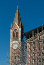Reconstruction of a church after the earthquake in italy Royalty Free Stock Image