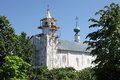 Reconstruction of old church orthodox with scaffolds suzdal russia Stock Photo