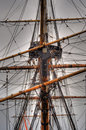 Reconstruction old sailing ship gothenburg sweden Stock Image