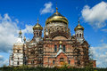 Reconstruction of russian church belogorsky monastery in perm krai Royalty Free Stock Photos