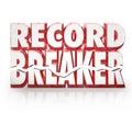 Record Breaker 3D Words Historic Best Score Results