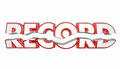 Record Breaker Top Score Best Result Word Royalty Free Stock Photo