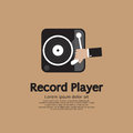Record player vector illustration Royalty Free Stock Photography