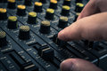 Recording mixer dj music sound remix image Stock Photo