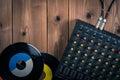 Recording mixer dj music sound remix image Stock Images