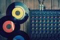 Recording mixer dj music sound remix image Royalty Free Stock Photo