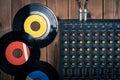 Recording mixer dj music sound remix image Stock Photography