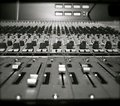 Recording studio mixing desk Royalty Free Stock Photo
