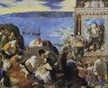 The Recovery of Bahia de Todos los Santos painted by Juan Bautista Maino, 1634 Royalty Free Stock Photo