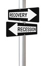 Recovery or Recession Royalty Free Stock Photos
