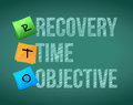 Recovery time objective post education illustration design Stock Photo