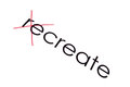 Recreate text create written on paper letters re are crossed out Stock Photo
