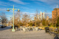 Recreation area in public park in New York Royalty Free Stock Photo
