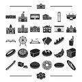 Recreation, entertainment, production and other web icon in black style.object, office, construction, icons in set