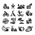 Recreation icons vector illustration authors in Stock Photography