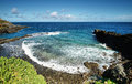 Recreational area known as charco azul in la palma island spain Stock Images