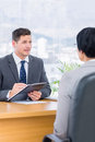 Recruiter checking the candidate during a job interview Royalty Free Stock Photo