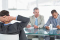 Recruiters checking the candidate during job interview a at office Stock Photography