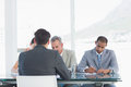 Recruiters checking the candidate during job interview a at office Royalty Free Stock Image