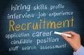 Recruitment background Royalty Free Stock Photo