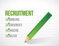 Recruitment check list illustration design Royalty Free Stock Photo
