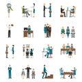 Recruitment HR People Icons Set
