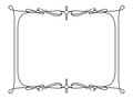 Rectangle frame in retro style on white Royalty Free Stock Photo