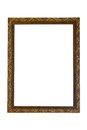 Rectangle gilded picture frame Royalty Free Stock Photo