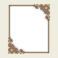 Rectangle gold jewelry frame
