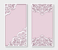 Rectangle panels with cutout lace pattern