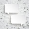 2 Rectangle Speech Bubbles Network Data