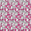 Rectangles seamless background pink Royalty Free Stock Photo