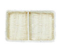 Rectangular basket made of paper cord Royalty Free Stock Images
