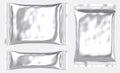 Rectangular blank foil pouch plastic bag Royalty Free Stock Photo