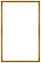 Rectangular gilded frame wooden isolated on white background Royalty Free Stock Image