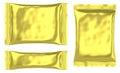 Rectangular golden pouch plastic bag Royalty Free Stock Photo