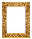 Rectangular Grunge Dirty Old Golden Picture Frame Royalty Free Stock Photos