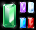 Rectangular jewels Stock Photography
