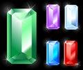 Rectangular jewels Royalty Free Stock Photo