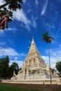 Rectangular pagoda and blue sky Stock Images