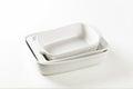 Rectangular porcelain dishes Royalty Free Stock Photo