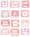 Rectangular postage stamps Royalty Free Stock Photo
