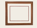 Rectangular Wood Frame Stock Photo