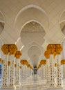 Recurring oriental archways in Abu Dhabi Grand Mosque