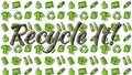 stock image of  Recyclable things line art pattern